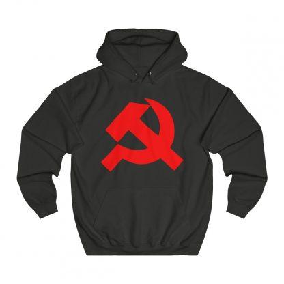 Hammer and sickle hoodie black