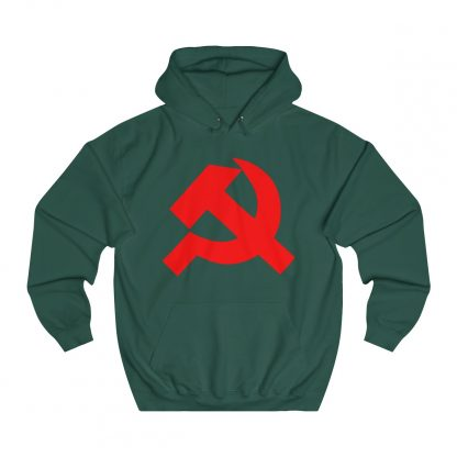 Hammer and sickle hoodie bottle green
