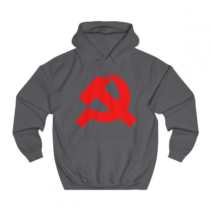 Hammer and sickle hoodie charcoal