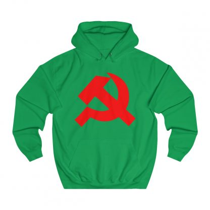 Hammer and sickle hoodie irish green