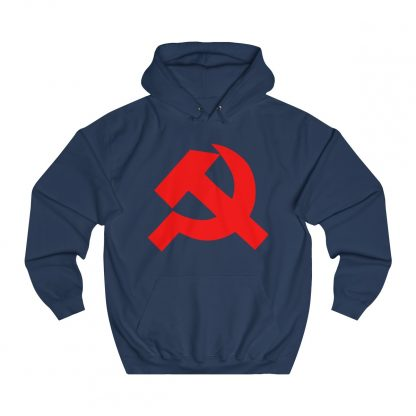Hammer and sickle hoodie navy
