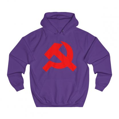 Hammer and sickle hoodie purple