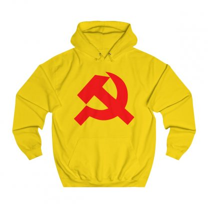 Hammer and sickle hoodie yellow