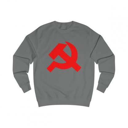 Hammer and sickle sweatshirt charcoal