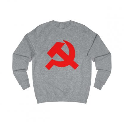 Hammer and sickle sweatshirt heather grey