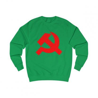 Hammer and sickle sweatshirt irish green