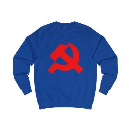 Hammer and sickle sweatshirt royal blue