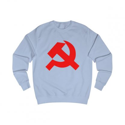 Hammer and sickle sweatshirt sky blue