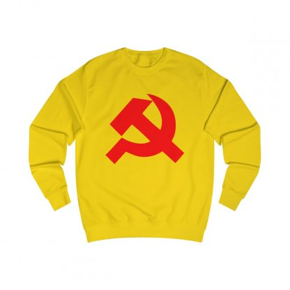 Hammer and sickle sweatshirt yellow