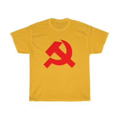 Hammer and sickle t shirt gold