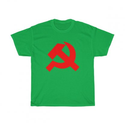 Hammer and sickle t shirt irish green