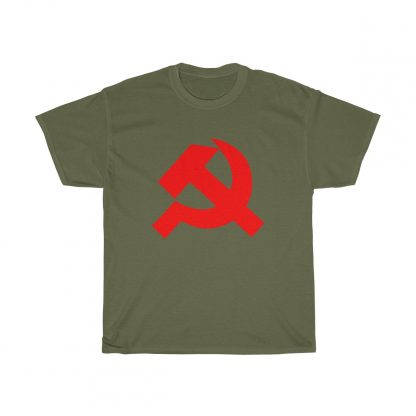 Hammer and sickle t shirt military green