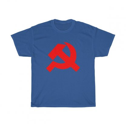 Hammer and sickle t shirt royal blue