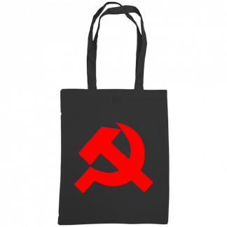 hammer and sickle tote bag black