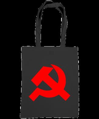 hammer and sickle tote bag black