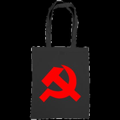 hammer and sickle tote bag black1