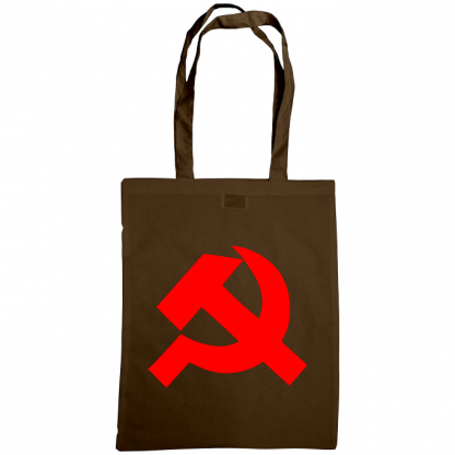 hammer and sickle tote bag chocolate