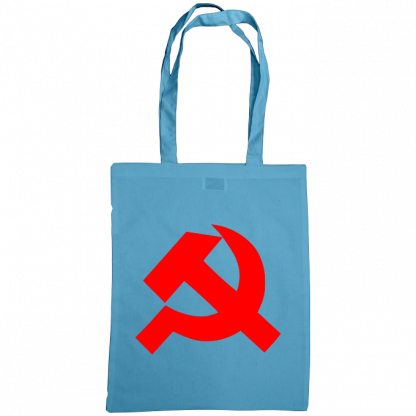 hammer and sickle tote bag cornflower