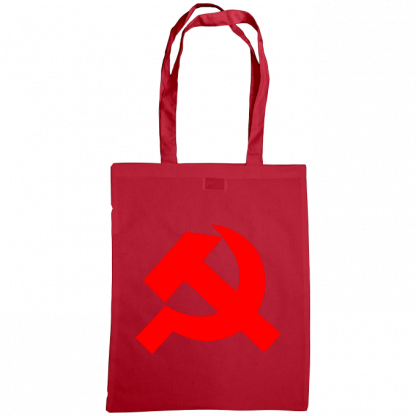 hammer and sickle tote bag cranberry