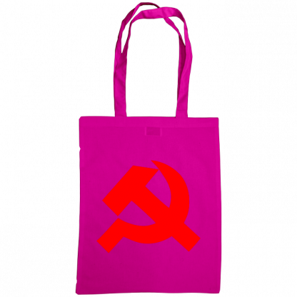 hammer and sickle tote bag fuscia