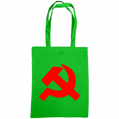 hammer and sickle tote bag green