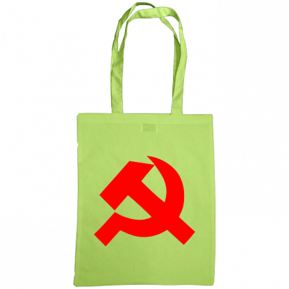 hammer and sickle tote bag lime