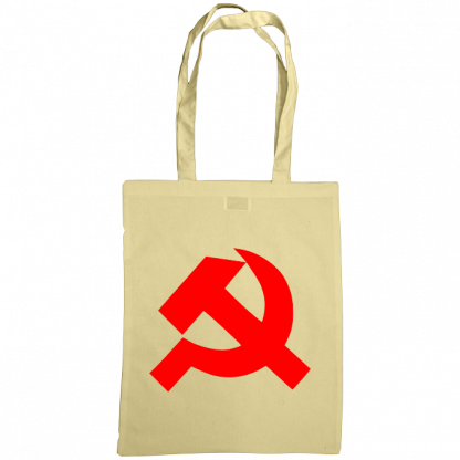 hammer and sickle tote bag natural