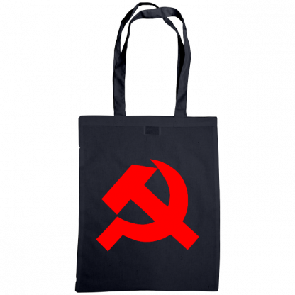 hammer and sickle tote bag navy