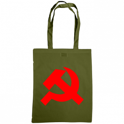 hammer and sickle tote bag olive