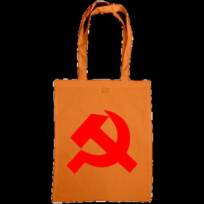 hammer and sickle tote bag orange