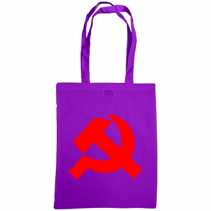 hammer and sickle tote bag purple