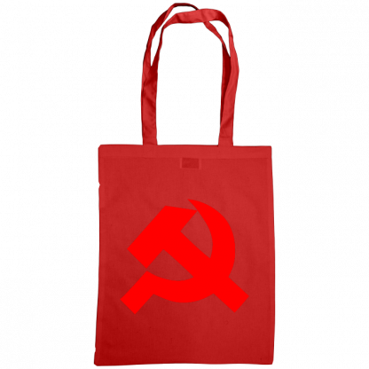 hammer and sickle tote bag red