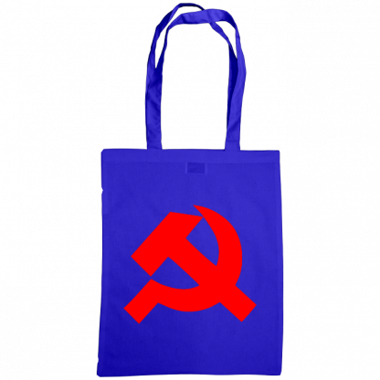 hammer and sickle tote bag royal blue