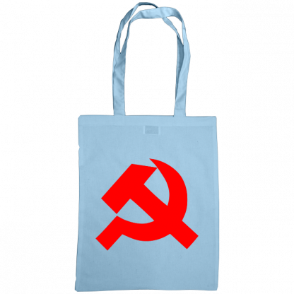 hammer and sickle tote bag sky blue