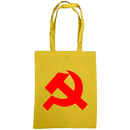 hammer and sickle tote bag sunflower