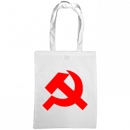 hammer and sickle tote bag white